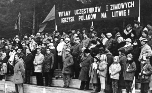"""Zimowe Igrzyska Polaków na Litwie odbyły się w 1989 roku w Wojdatach Fot. archiwum Klubu Sportowego """"Polonia"""""""