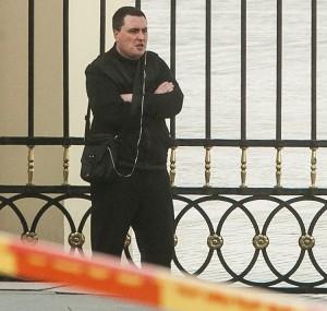 """Mężczyzna urodzony w 1982 roku, który wczoraj obok Pałacu Prezydenckiego chciał """"zdetonować"""" ładunek wybuchowy, jest niestabilny psychicznie Fot. ELTA"""