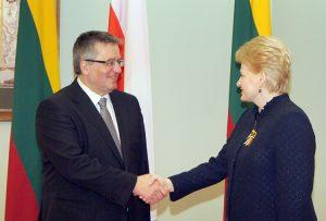 Bronisław Komorowski i Dalia Grybauskaitė Fot. Marian Paluszkiewicz