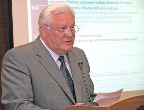 Algirdas Brazauskas — pierwszy prezydent niepodległej Litwy Fot. Marian Paluszkiewicz