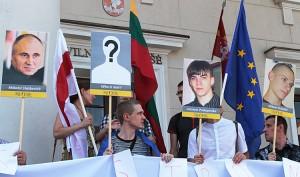 Aktywiści żądali uwolnienia więźniów politycznych oraz zapewnienia praw obywatelskich w ich kraju Fot. Marian Paluszkiewicz