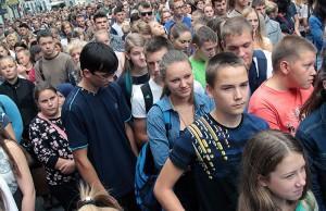 Po strajku ostrzegawczym uczniowie wrócą do szkół, jednak zostanie zachowane pogotowie strajkowe na wypadek braku reakcji na protesty ze strony władz oświatowych Fot. Marian Paluszkiewicz