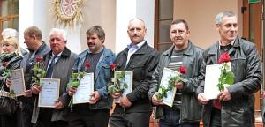 Podczas święta tradycyjnie zostali też nagrodzeni najlepsi tegoroczni rolnicy rejonu wileńskiego Fot. Marian Paluszkiewicz