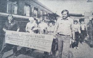 """Koło Sympatyków """"Czerwonego Sztandaru"""" z Cieszyna Fot. Walery Charin"""