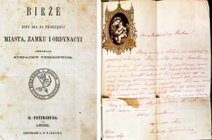 Wydana w 1869 r. książka Eustachego Tyszkiewicza z jego własnoręczną dedykacją trafiła do muzeum w Babcinie, została przekazana przez prywatne osoby Fot. Marian Paluszkiewicz