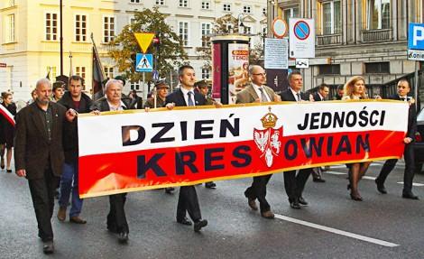 Na czele Marszu Godności niesiono pamiątkowy plakat Fot. Henryk Mażul