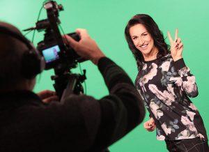 Przed kamerą Katarzyna czuje się rozluźniona Fot. Marian Paluszkiewicz