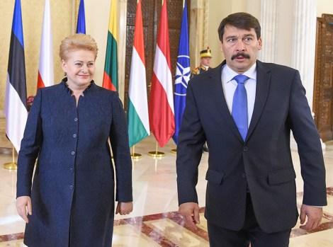 W spotkaniu szefów państw wschodniej flanki NATO w Bukareszcie udział wzięła prezydent Litwy Dalia Grybauskaitė Fot. prezidentas.lt