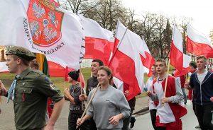 W samo południe na Rossę dotarli uczestnicy XXI Sztafety Niepodległości Fot. Marian Paluszkiewicz