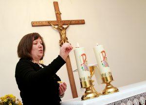 Przed poranną modlitwą w zakonnej kaplicy Fot. Marian Paluszkiewicz