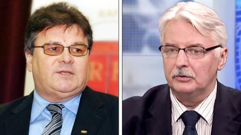 Ministrowie spraw zagranicznych Litwy Linas Linkevičius i Polski Witold Waszczykowski uważają, że sankcje wobec Rosji powinny być przedłużone Fotomontaż Marian Paluszkiewicz