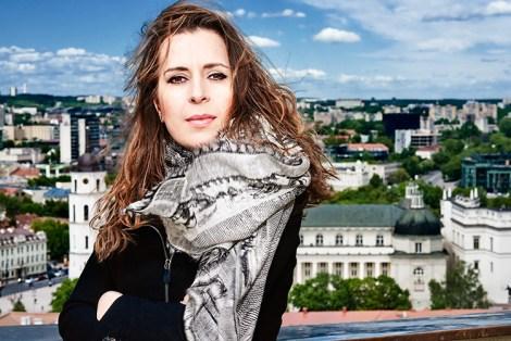 "Kristina Sabaliauskaitė, autorka bestselleru ""Silva rerum"" Fot.Paulius Gasiunas"