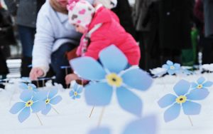 Niebieskie niezapominajki są symbolem tragicznych wydarzeń 13 stycznia 1991 r. Fot. Marian Paluszkiewicz