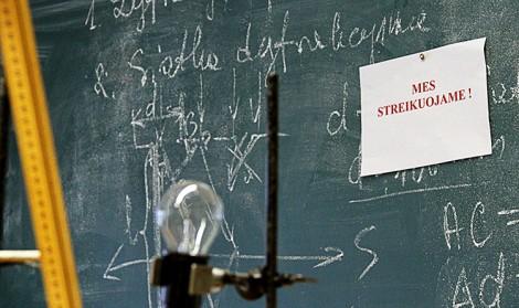 Strajk będzie kontynuowany dopóty, dopóki rząd w pełni nie spełni wysuwanych przez nauczycieli postulatów Fot. Marian Paluszkiewicz