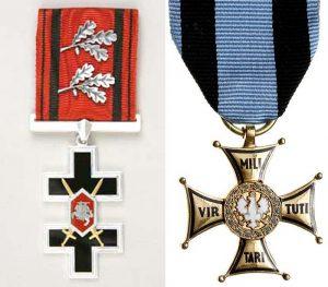 Krzyż oficerski Orderu Pogoni Order Virtuti Militari IV klasa