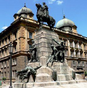 Pomnik króla Władysława Jagiełły w Krakowie wzniesiony w 500. rocznicę bitwy pod Grunwaldem Fot. archiwum