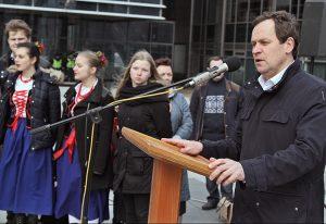 Waldemar Tomaszewski ubolewał, że w demokratycznym państwie obywatele muszą bronić swoich praw poprzez protesty Fot. Marian Paluszkiewicz