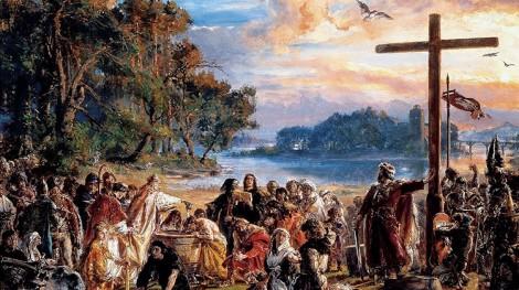 Zaprowadzenie chrześcijaństwa w Polsce – obraz olejny Jana Matejki Fot. archiwum