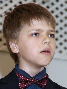 11-letni śpiewak Albert Czerniawski na scenie czuje się jak zawodowy artysta Fot. Jerzy Karpowicz