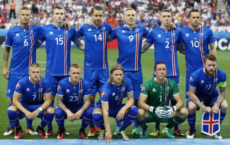Reprezentacja Islandii dokonała największej niespodzianki podczas Euro 2016 i pokonała w 1/8 finału Anglię 2:1 Fot. EPA-ELTA