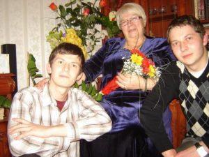 Šarūnas, mama Genė oraz Justinas Orlavičiusowie Fot. Justinas Orlavičius
