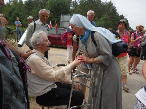 Mieszkańcy Wileńszczyzny czekają na spotkania z pielgrzymami i przeżywają je z ogromnym wzruszeniem Fot. Anna Mroczek