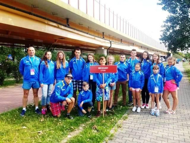 Uczniowie z Mickun wywalczyli 28 medali podczas 28. Międzynarodowej Parafiady Dzieci i Młodzieży Fot. archiwum szkoły