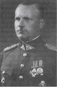 Burmistrz Wilna Karolis Dabulevičius — przed wojną podpułkownik wojska litewskiego Fot. archiwum