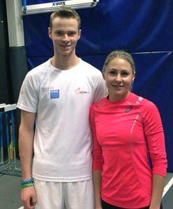 Podczas treningu z Laurą Asadauskaitė — mistrzynią olimpijską w pięcioboju nowoczesnym Fot. archiwum Roberta Wrzesińskiego