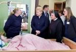 Prezydent Litwy odwiedziła pacjentów wileńskiego hospicjum