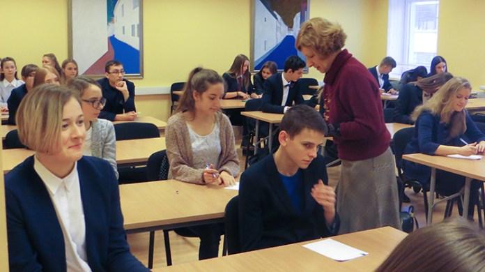 W konkursie o tytuł mistrza ortografii wzięło udział 35 uczniów ze szkół polskich na Wileńszczyźnie Fot. autorka