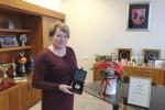 Mer Samorządu Rejonu Wileńskiego Maria Rekść nagrodzona odznaką dziękczynną Izby Handlu, Przemysłu i Rzemiosła