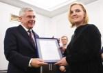 """Dziennikarka """"Kuriera Wileńskiego"""" z wyróżnieniem od Marszałka Senatu RP"""
