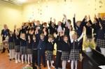 """W Szkole Podstawowej """"Saulėtekio"""" w Bezdanach rejonu wileńskiego uroczyście otwarto dobudówkę"""