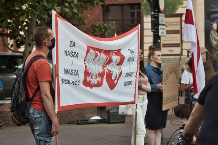 """""""Nie pozwólcie zaszczepić strachu"""": Białorusini mobilizują się poza granicami kraju"""