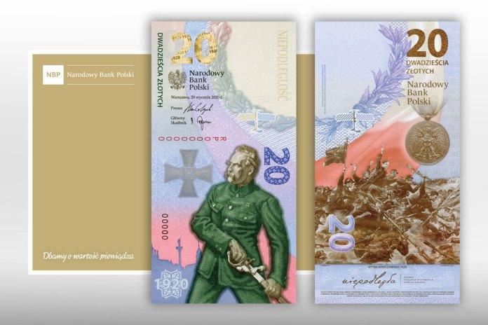Polska wyemitowała pierwszy pionowy banknot, który upamiętnia Bitwę Warszawską