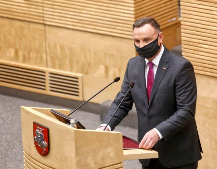 """Andrzej Duda do litewskiego sejmu: """"niech Bóg błogosławi Litwinom i Polakom"""""""
