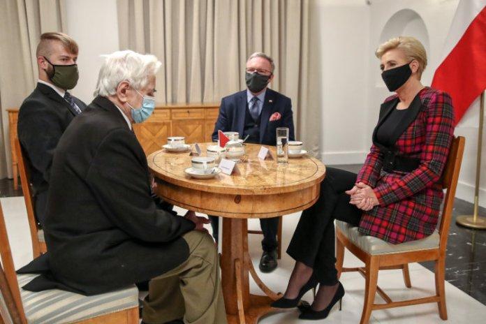 Pierwsza dama Polski spotkała się z wileńskim żołnierzem AK