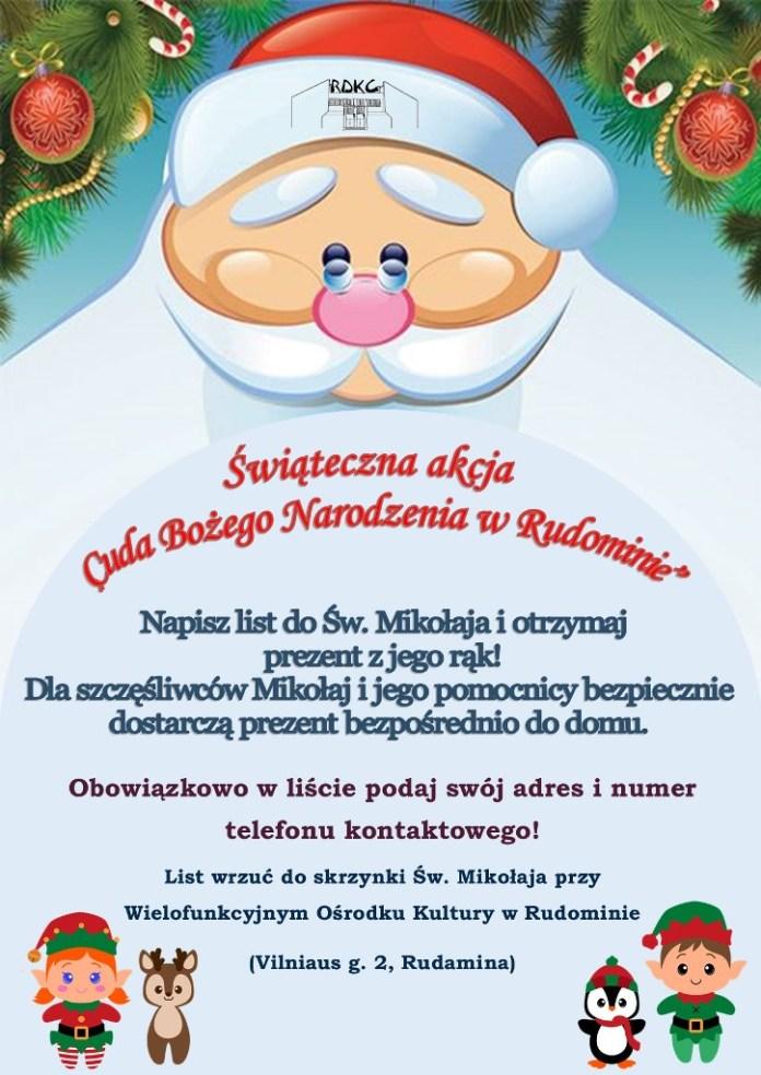 """Świąteczna akcja """"Cud Bożego Narodzenia w Rudominie"""""""