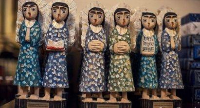 Drewniane lalki z Centrum Kultury Samorządu Rejonu Solecznickiego na Litwie