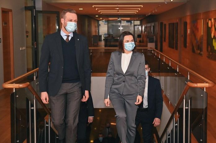 Minister Landsbergis spotkał się ze Swiatłaną Cichanouską