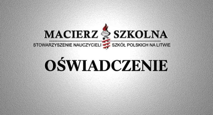 Oświadczenie Macierzy Szkolnej w sprawie prześladowania Polaków na Białorusi
