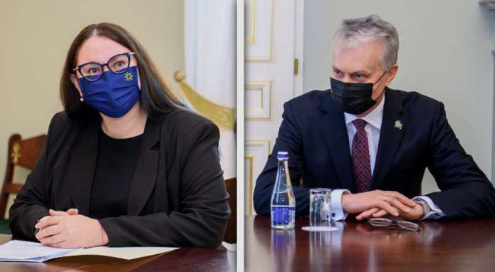 Spotkanie Nausėdy z Dobrowolską — m.in. o mniejszościach narodowych