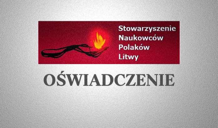 Oświadczenie Stowarzyszenia Naukowców Polaków Litwy w sprawie aresztowanych