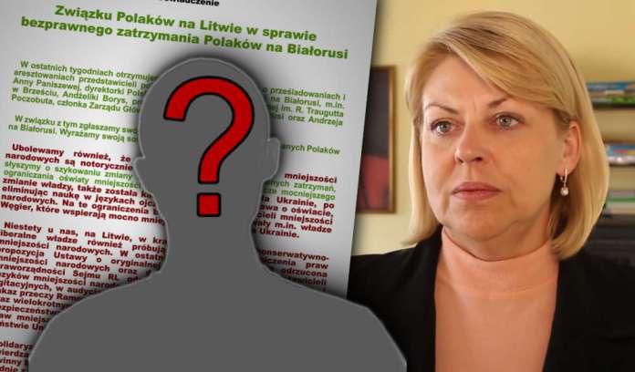"""Związek Polaków na Litwie pluje w twarz aresztowanym. Kto podpisał """"specyficzne"""" oświadczenie?"""