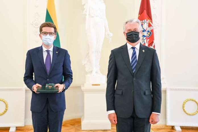 Marcin Łapczyński odebrał Krzyż Rycerski Orderu za Zasługi dla Litwy