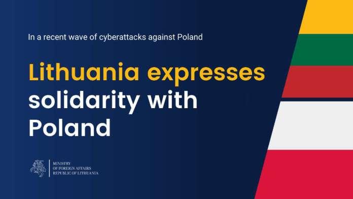 """MSZ Litwy solidaryzuje się z Polską w związku z cyberatakami. """"Takie działania muszą mieć konsekwencje"""""""