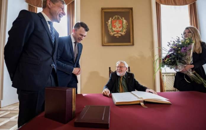 Vytautas Landsbergis nagrodzony tytułem Honorowego Obywatela Wilna