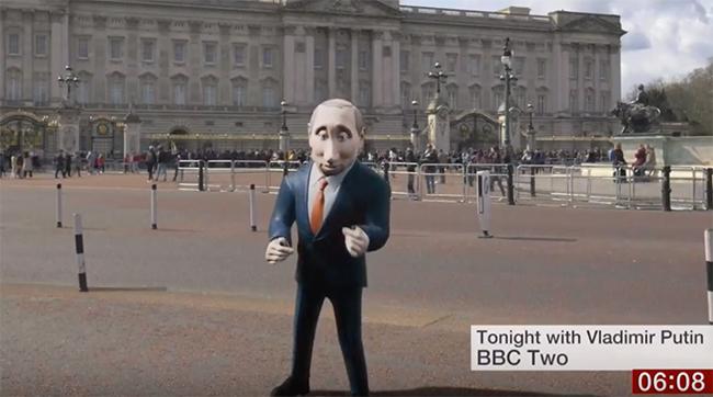 «Би-Би-Си» сделает два эпизода вечернего шоу, которые будет вести компьютерная 3D-модель российского президента