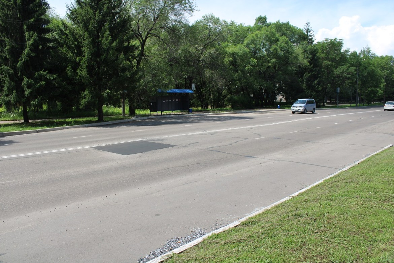 Проваливающийся участок проспекта 60-летия СССР в Биробиджане заасфальтировали